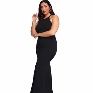 Lulus Girl in the Mirror Black Beaded Maxi Dress